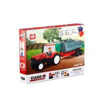 Traktor + Tankwagen, Bausatz (155 Teile)