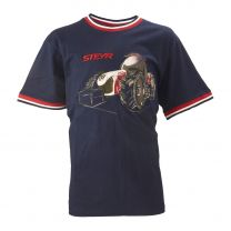 Kinder-T-Shirt, navy/rot/weiß