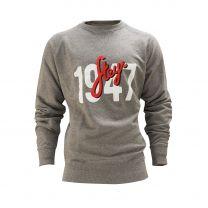 Herren-Sweatshirt, grau, mit Aufdruck 1947