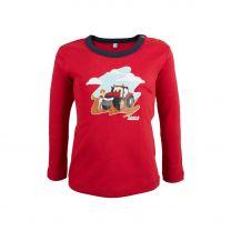 Baby-T-shirt, Langarm, rot/blau