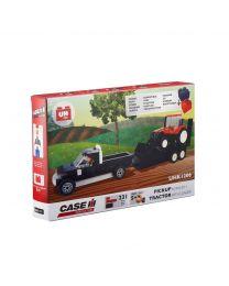 Traktor + Frontlader + Anhänger, Bausatz (231 Teile)