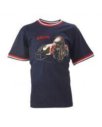 Kinder-T-Shirt, navy/rot/weiß
